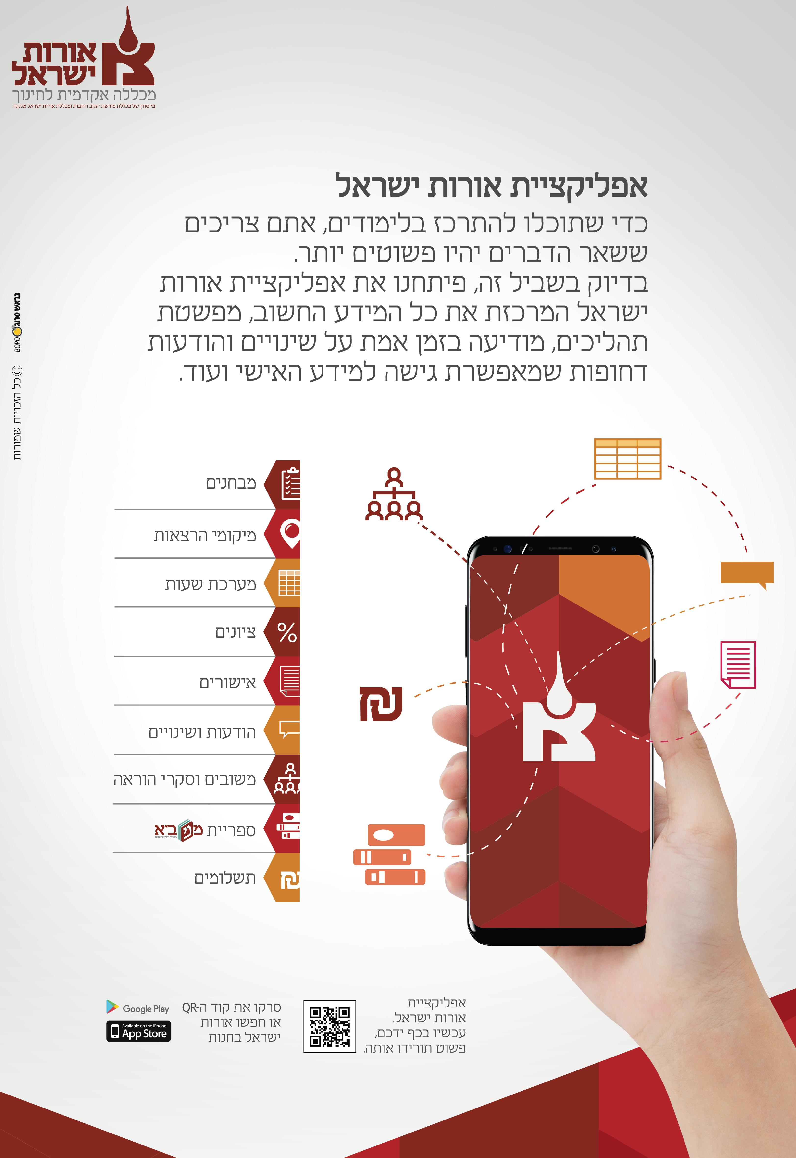 אפליקציה אורות ישראל